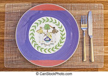 Dinner plate for Belize
