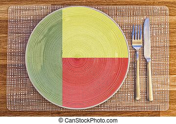 Dinner plate for Benin