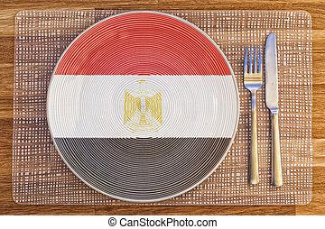 Dinner plate for Egypt