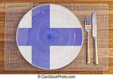 Dinner plate for Finland
