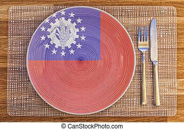 Dinner plate for Myanmar