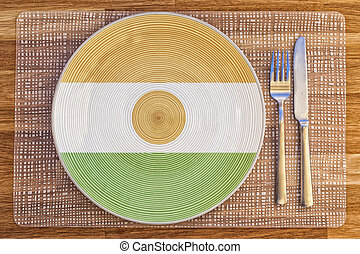 Dinner plate for Niger