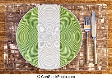 Dinner plate for Nigeria