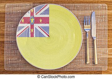 Dinner plate for Niue