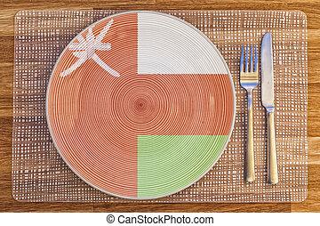 Dinner plate for Oman