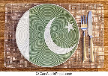Dinner plate for Pakistan