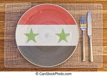 Dinner plate for Syria - Dinner plate with the flag of Syria...