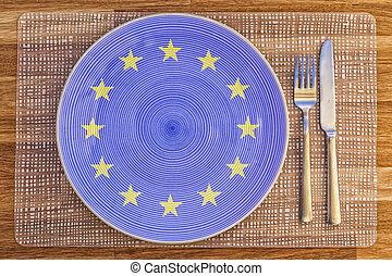 Dinner plate for the European Union