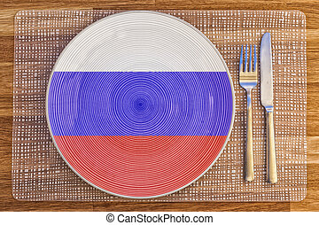 Dinner plate for The Russian Federation - Dinner plate with...