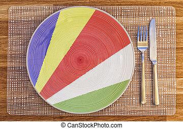 Dinner plate for The Seychelles