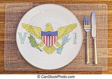 Dinner plate for the Virgin Islands