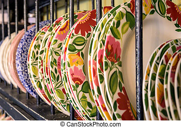 Dinner Plates Lined Up
