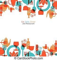 Dinner, Restaurant Frame - Eat, Dinner, Restaurant Set