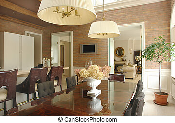Dinner room and living room