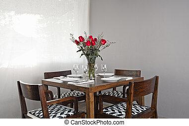 Dinner table setup
