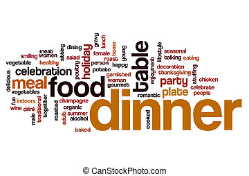 Dinner word cloud concept