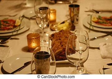 dinnerparty, intymny