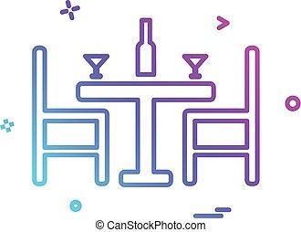 Dinning icon design vector