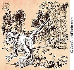 Dino, Dinosaur - and drawn vector