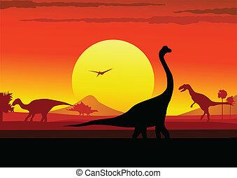 Dino era background