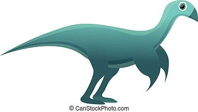 Dino icon, cartoon style