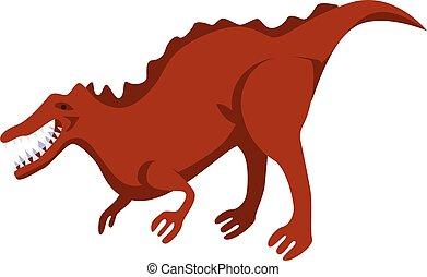 Dino icon, isometric style