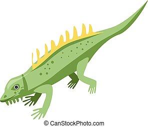 Dino lizard icon, isometric style