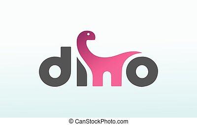 dino, logo, conception