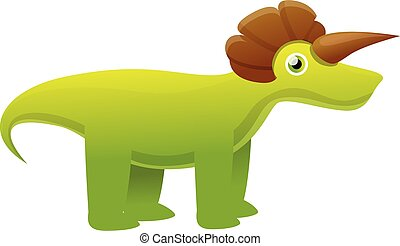 Dino monster icon, cartoon style