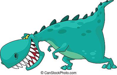 dino rex - illustration of a dinosaur rex