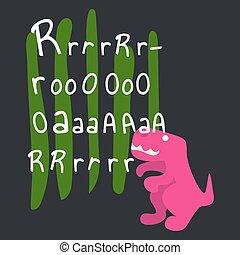 Dino roar tshirt vector design illustration.