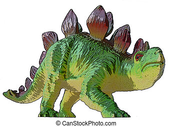 Dino Stegosaurus drawing