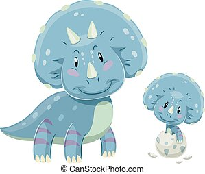 Dino Triceratops Baby