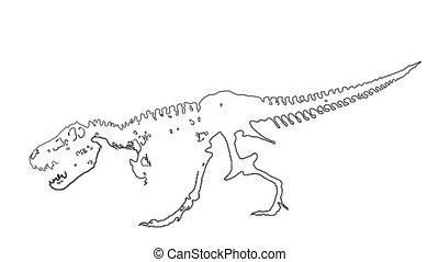 dinoasaur t rex laser animation - dinosaurus Tyrannosaurus...