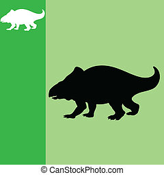 dinosaur art vector illustration