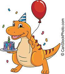Dinosaur Birthday Mascot