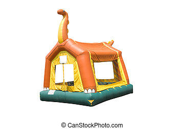 dinosaur bounce house - colorful dinosaur themed bounce...