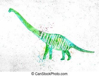 Dinosaur brachiosaurus vivid