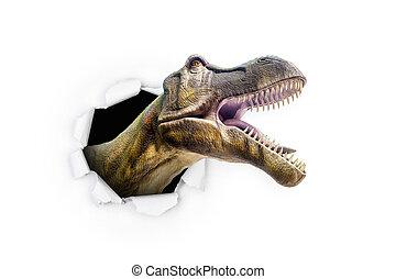 Dinosaur Breaking Through