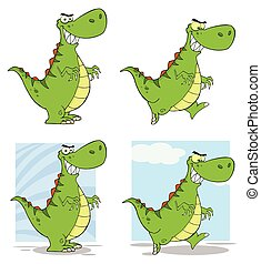 Dinosaur Cartoon Character Collection - 1