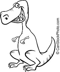 dinosaur cartoon character coloring book