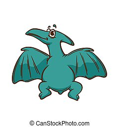 Dinosaur cartoon cute monster. Animal and prehistoric....