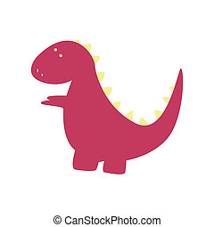Dinosaur - abstract cute dinosaur on a white background