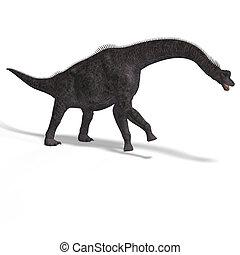 dinosaur - giant dinosaur brachiosaurus With Clipping Path...