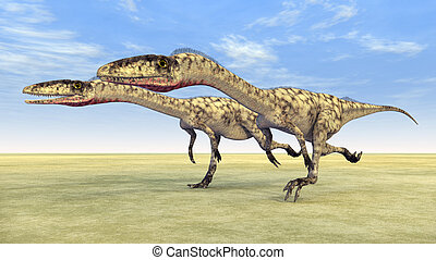 Dinosaur Coelophysis - Computer generated 3D illustration...