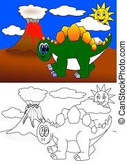 Dinosaur - coloring book