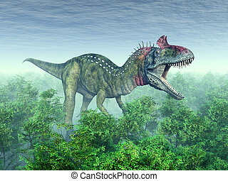 Dinosaur Cryolophosaurus - Computer generated 3D...