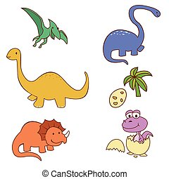 Dinosaur Cute Object Collection