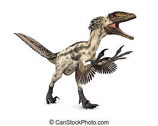 Dinosaur Deinonychus - Deinonychus was a genus of...