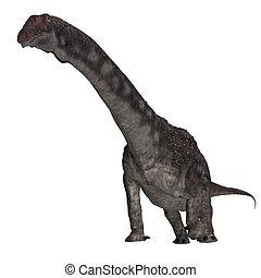Dinosaur Diamantinasaurus. 3D rendering with clipping path...